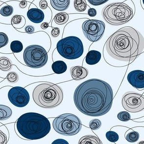 Going in Circles: Blue Moons, Crazy Continuous Lines, Medium Scale