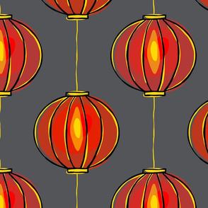 Minimalist Red Lanterns - medium scale
