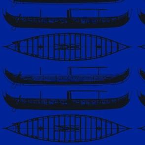 BLUE shadow Black Gokstad Long - Ship