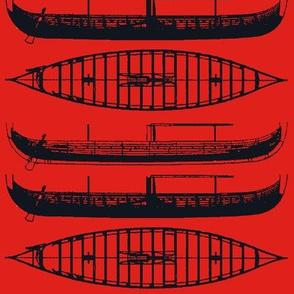 RED shadow Black Gokstad Long - Ship