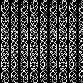 Urnes scrollwork black white