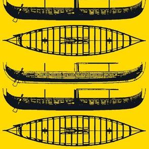 YELLOW shadow Black Gokstad Long - Ship