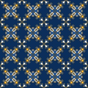 Blue and Yellow Cross on Navy