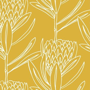 Protea Large - Yellow