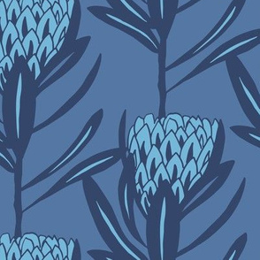 Protea Large - Duo Navy