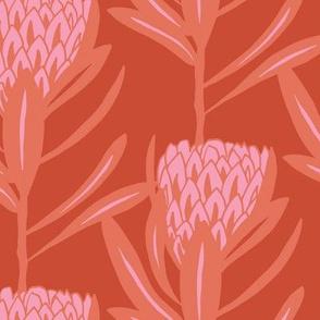 Protea Large - Duo Persimmon