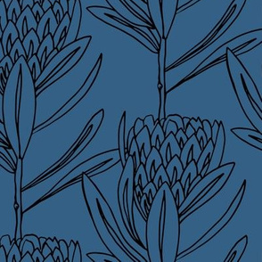 Protea Large - Blue / Black