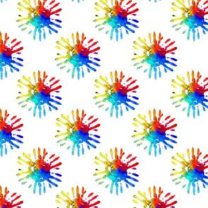 Hand Sun Pattern Square