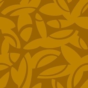 Midcentury Petals in Mustard and Deep Ochre