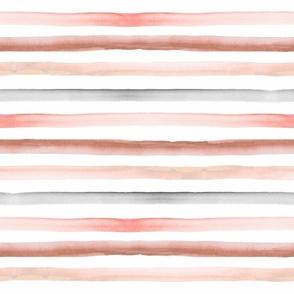 rainbow stripe pastel earth tones 1/2 inch