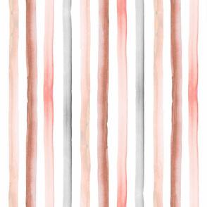 rainbow stripe pastel earth tones 1/2 inch -rotate