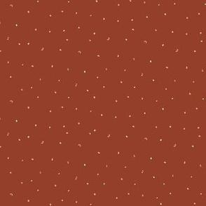 Mini gold fetti - red earth