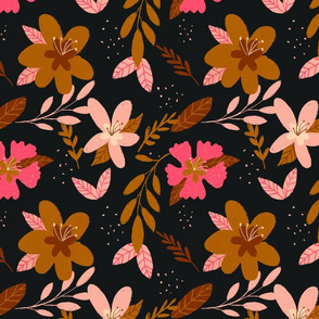 Pink Fall Floral