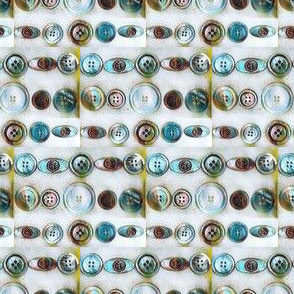 White, Green & Brown Antique Button Lines