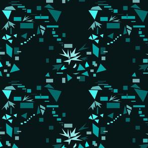 geometric movement on black