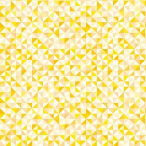 Ditsy Triangles (yellow)