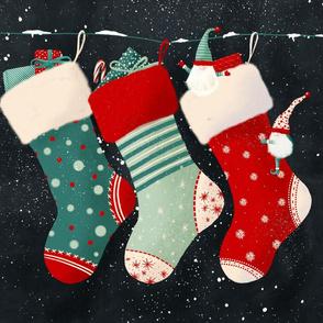 Christmas Stocking Tea Towel