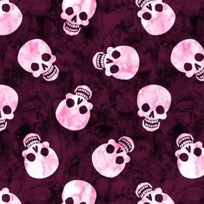 Happy Skull Scatter Pink