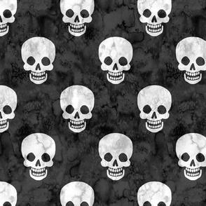 Happy Skulls Grey