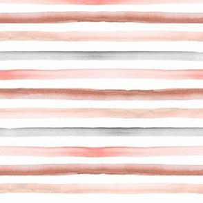 rainbow stripe pastel earth tones 1/4 inch