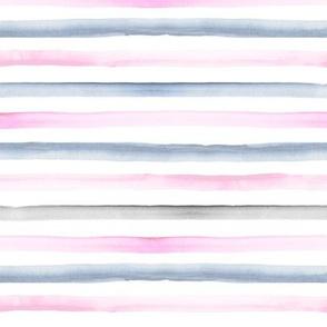 rainbow stripe pink blue gray 1/4 inch