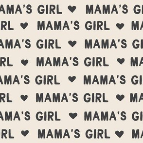 Mama's girl valentine's day fabric in charcoal