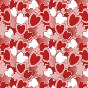 "8"" | 12"" Red Pink Valentines Hearts Pattern"