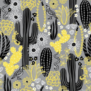 Sonoran Landscape (Yellow and Gray)
