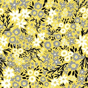 Rustic Wildflower (Yellow and Gray)