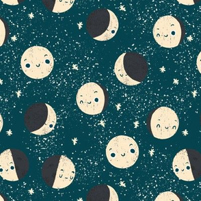moon phase faces