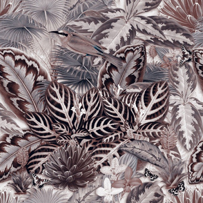 Jardin d'Eden (Grey / Sepia)