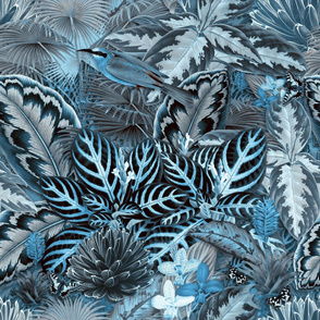 Jardin d'Eden (Grey / Blue)