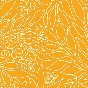 Contour Line Botanicals Yellow