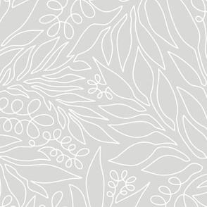 Contour Line Botanicals Ivory