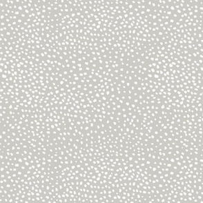 Fat cheetah spots baby animal print minimal small speckles and spots abstract wild cat white snow leopard nursery mist green gray white  SMALL