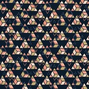 Playful Triangles Dark Blue / Tiny Scale