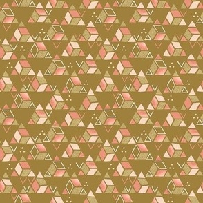 Playful Triangles Gold / Tiny Scale