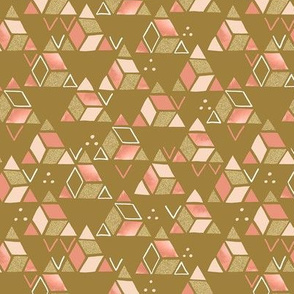 Playful Triangles Gold / Small Scale