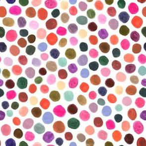 Polka Dots Gouache Color Blobs