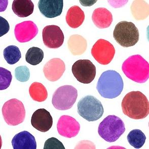 Polka Dots Color Blobs Gouache large