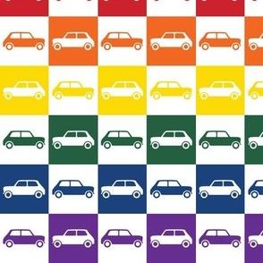 Mini Cooper Squares - Rainbow