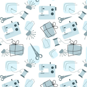For Spoonflower Makers Blue