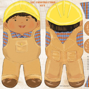 Lil Construction Guy brown hair/skin