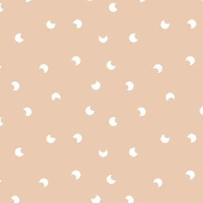 The minimalist moon sweet baby universe nursery soft peach ginger white SMALL