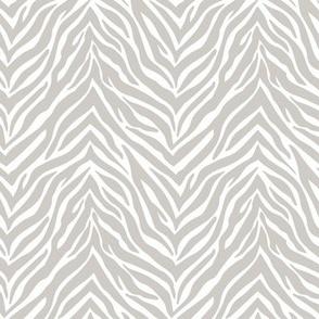 The minimalist zebra stripes animal print boho jungle theme nursery mist gray white