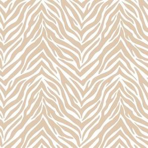 The minimalist zebra stripes animal print boho jungle theme nursery ginger beige white