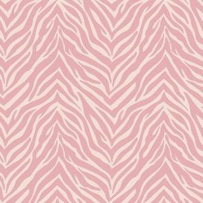 The minimalist zebra stripes animal print boho jungle theme nursery soft sand pastel pink