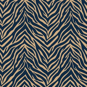The minimalist zebra stripes animal print boho jungle theme nursery soft ginger navy blue