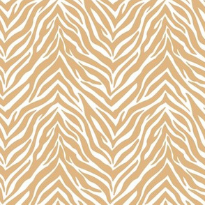 The minimalist zebra stripes animal print boho jungle theme nursery ochre cinnamon yellow