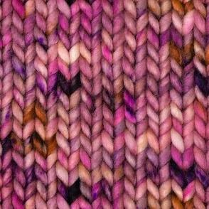 Chunky speckled stockinette stitch - rose pink